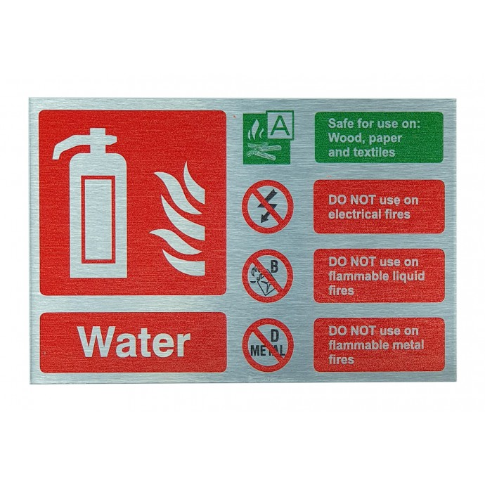 Water ID Sign Contempo Stainless Steel Finish – Landscape