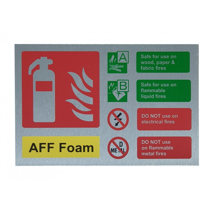 AFF Foam ID Sign Contempo Stainless Steel Finish – Landscape