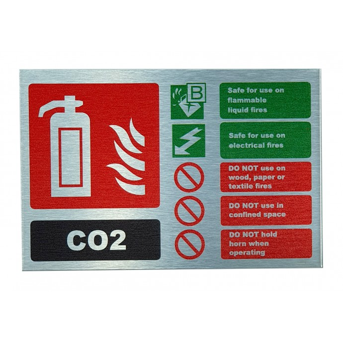 CO2 ID Sign Contempo Stainless Steel Finish – Landscape