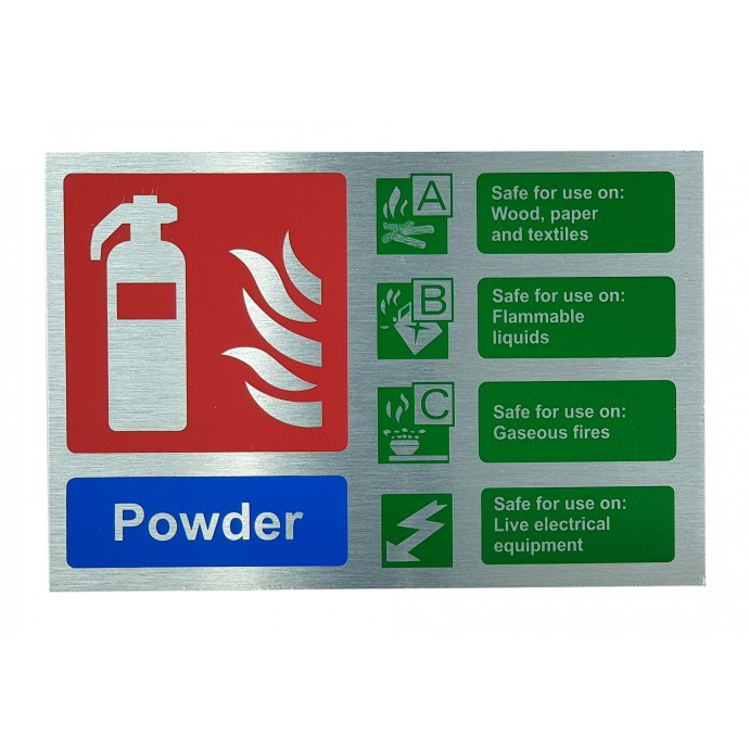 Powder ID Sign Contempo Stainless Steel Finish – Landscape