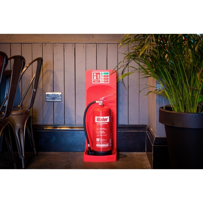 Commander Single Extinguisher Stand Red