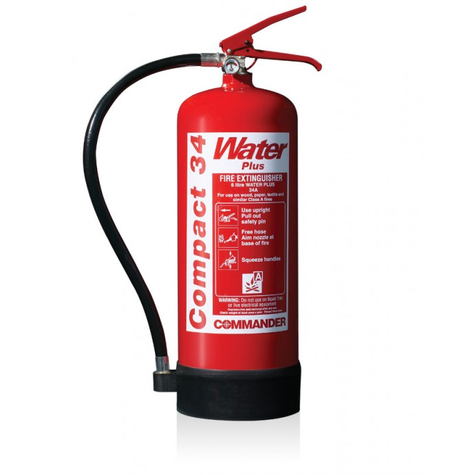 CommanderEDGE 6ltr Water Compact 34 Fire Extinguisher