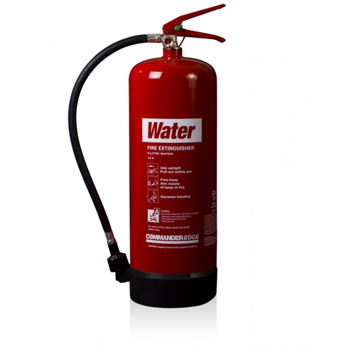 CommanderEDGE 9ltr Water Fire Extinguisher