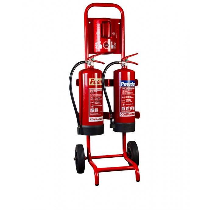 Compact Double Extinguisher Trolley