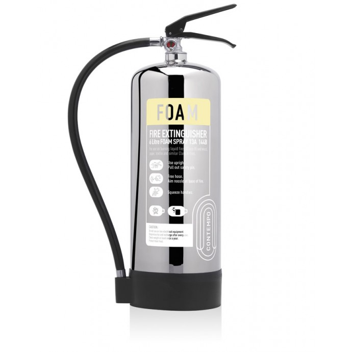 6ltr AFFF Foam Stainless Steel Fire Extinguisher