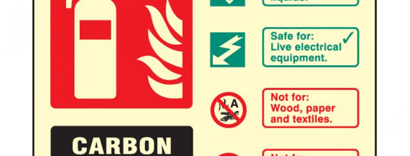 Landscape Photoluminescent Co2 Fire Extinguisher Sign
