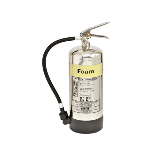 Chrome/Polished Steel – Foam 6 Litre Fire Extinguisher