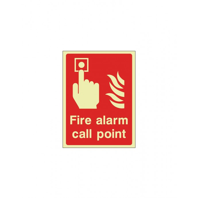 Fire Alarm Call Point Sign Photoluminescent