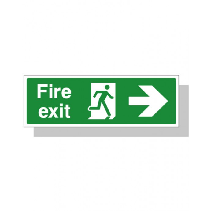 Fire Exit Sign – Right Direction