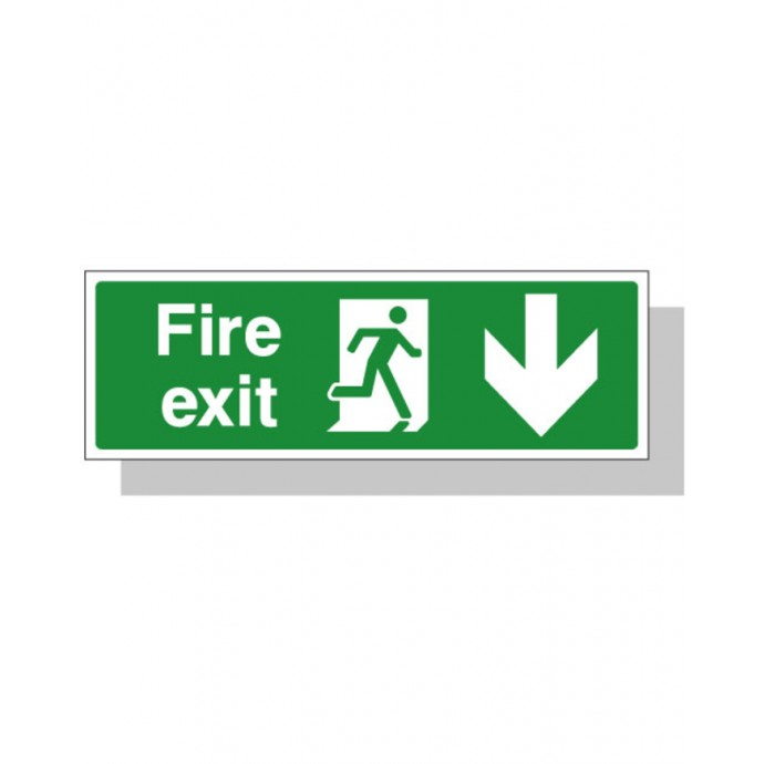 Fire Exit Sign – Down Direction