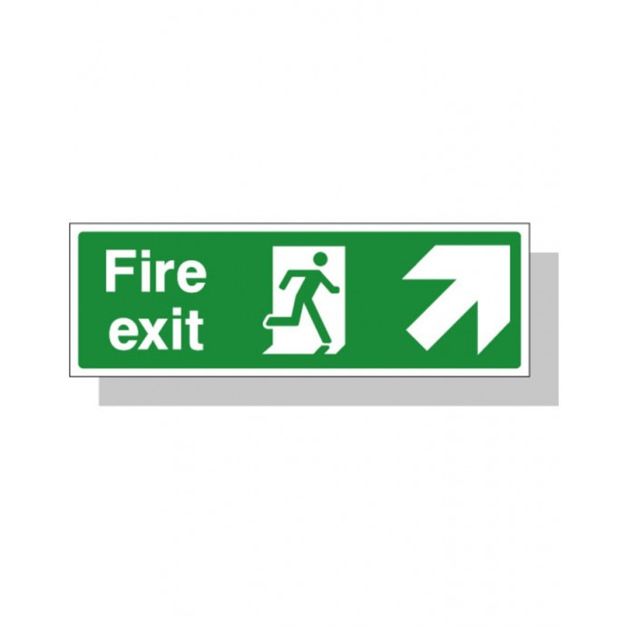 Fire Exit Sign – Up Right Direction