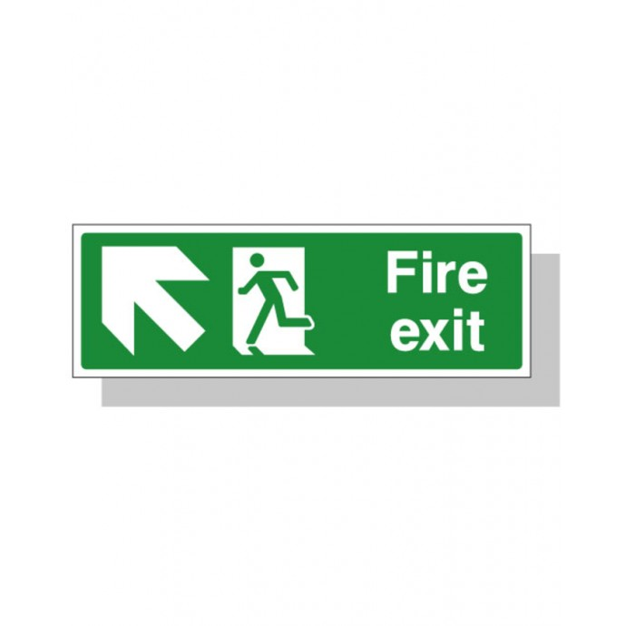 Fire Exit Sign – Up Left Direction