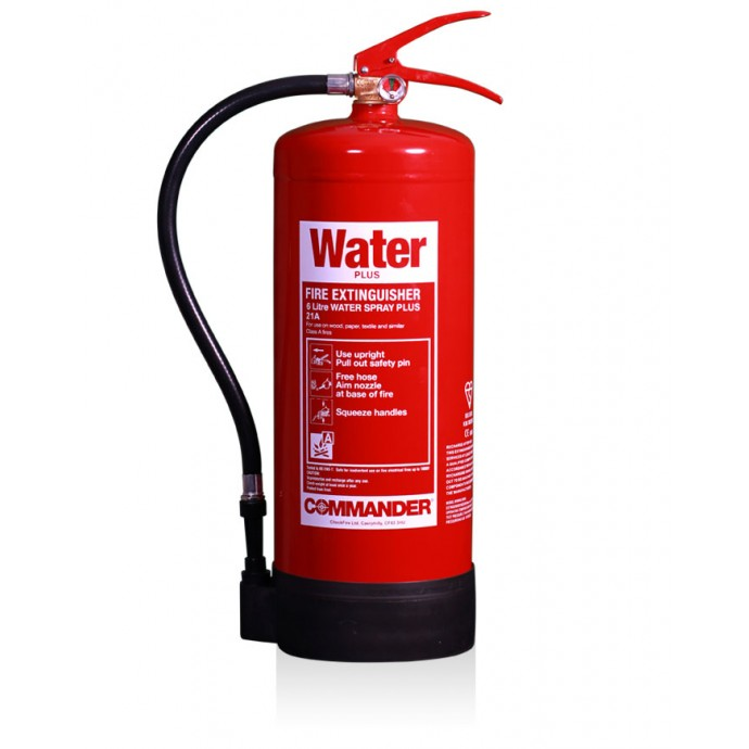 Commander 6ltr Water Plus Spray Fire Extinguisher