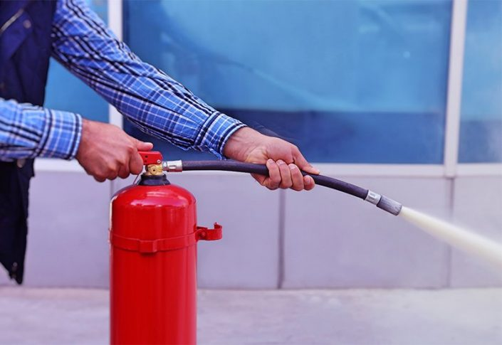 Real fire extinguisher training