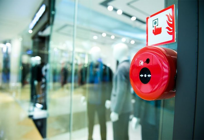 Fire alarm in retail store